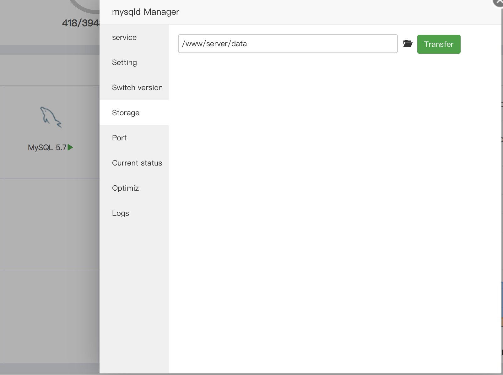 change storage folder