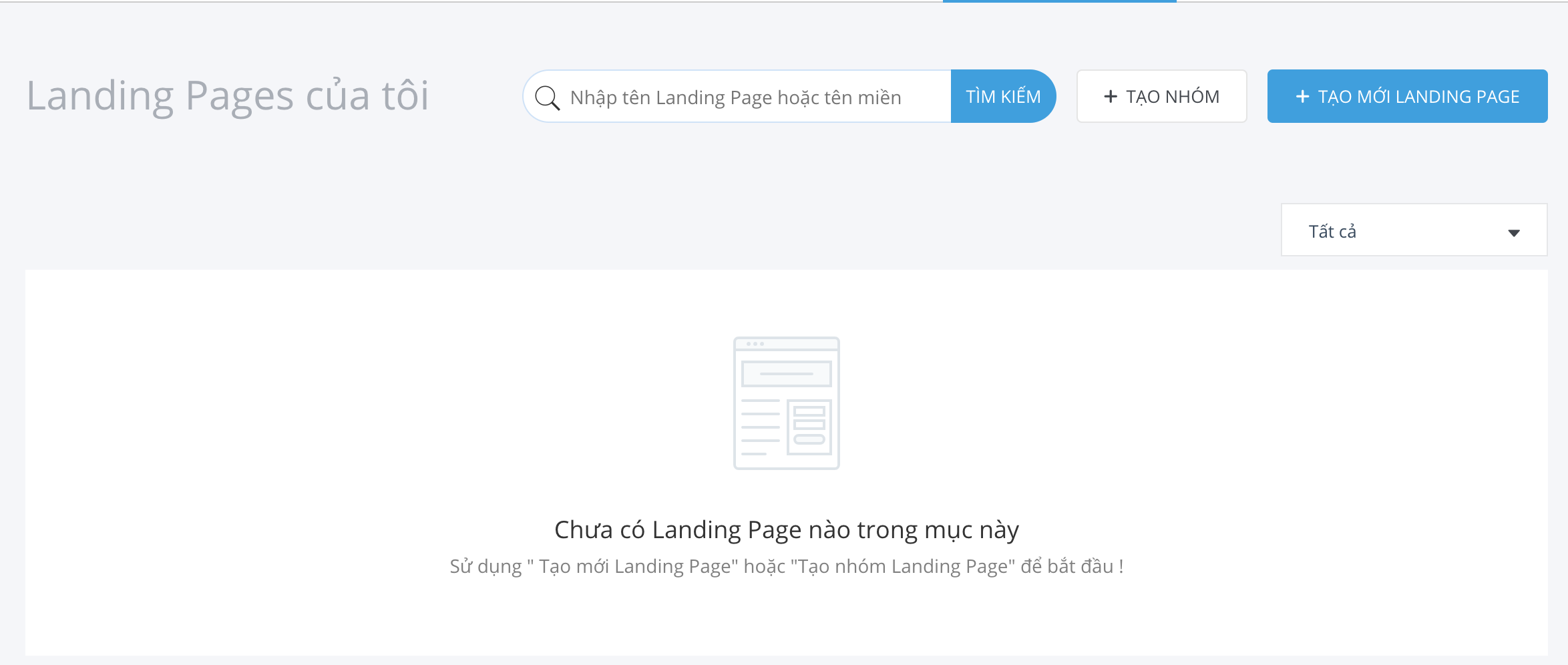 wikivps-tạo mới landing page
