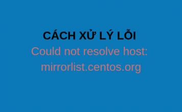 wikivps-CÁCH XỬ LÝ LỖI Could not resolve host_ mirrorlist.centos.org