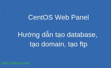 Hướng dẫn tạo database, tạo domain, tạo ftp
