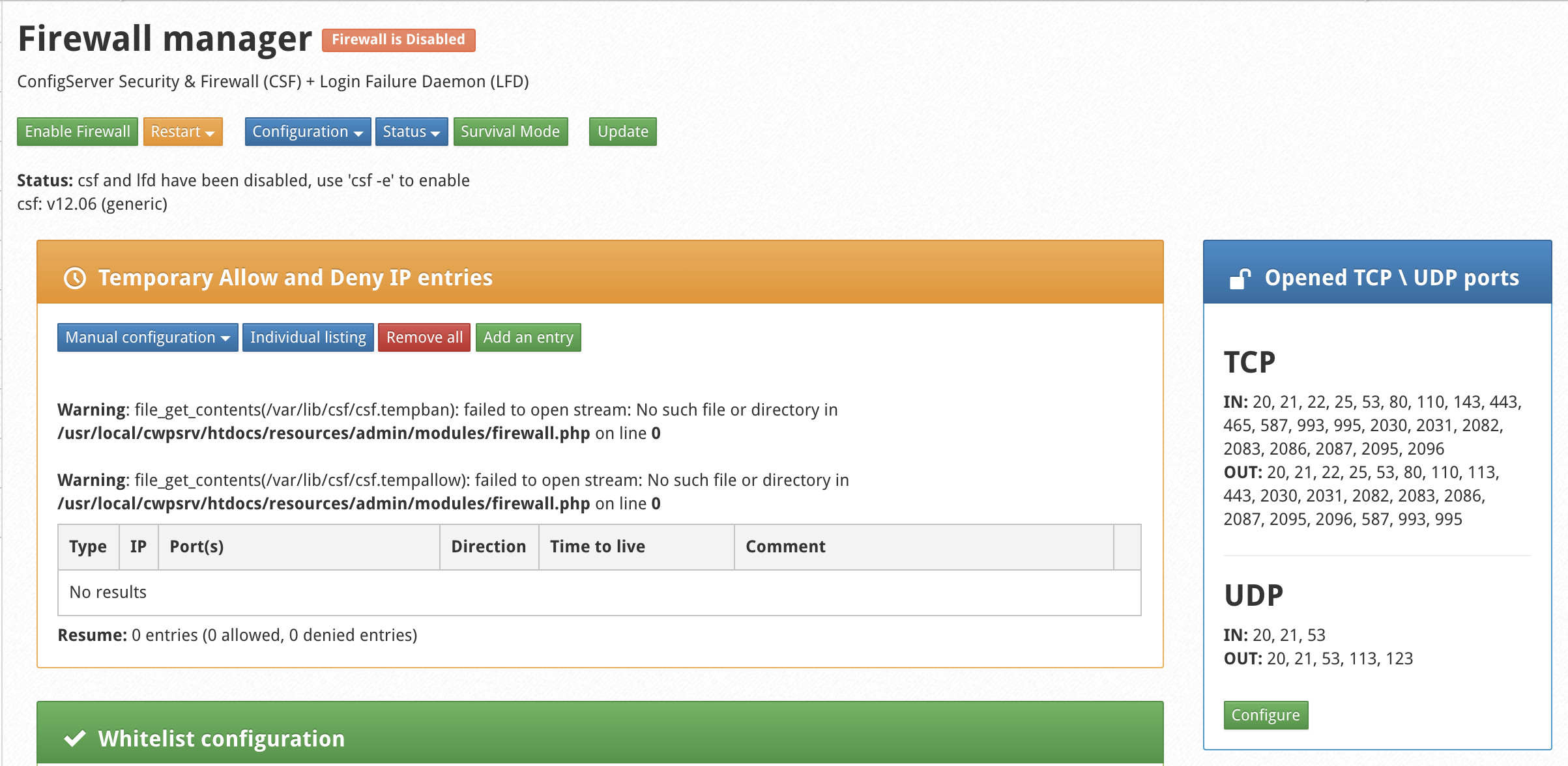 wikivps- managed csf/lfd page