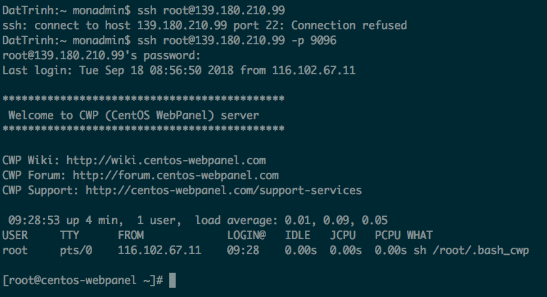 wikivps- try access to server by ssh