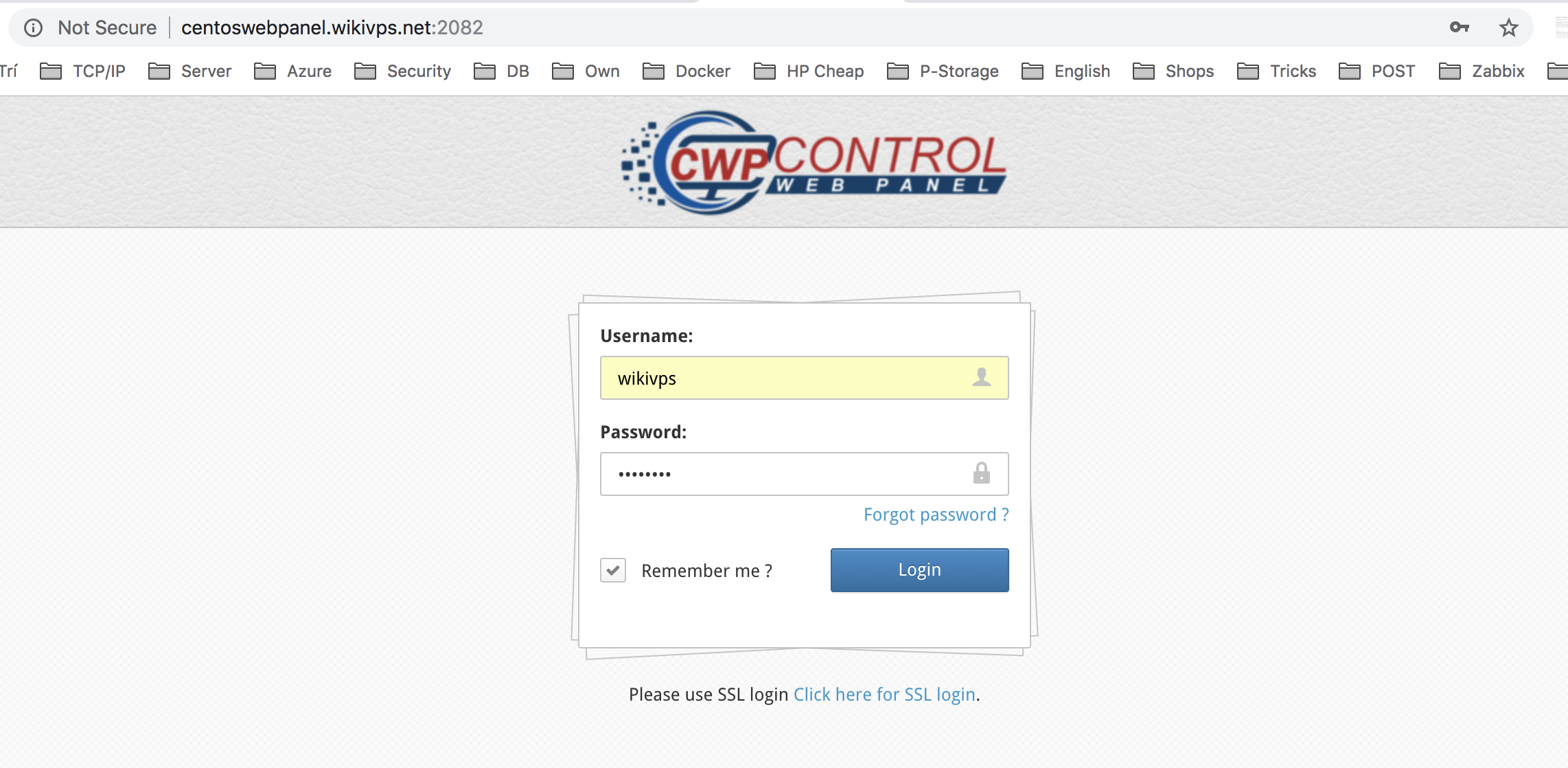 wikivps- login user panel