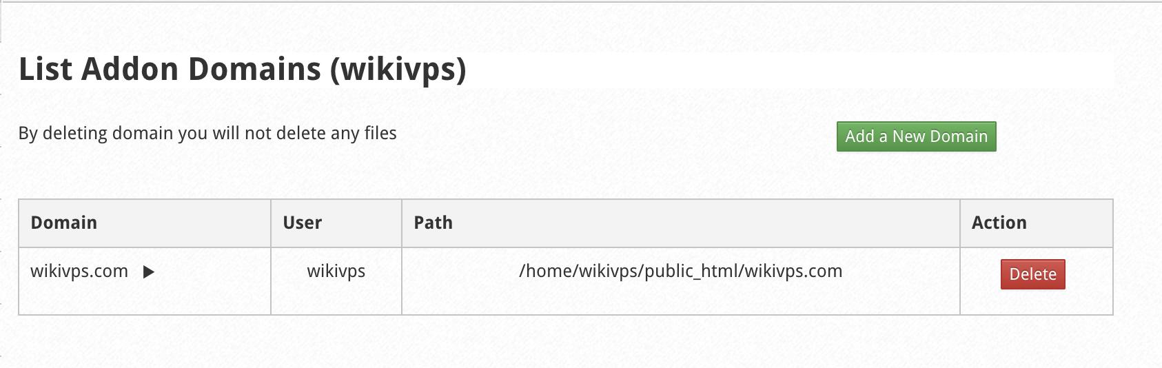 wikivps- sau khi thêm domain