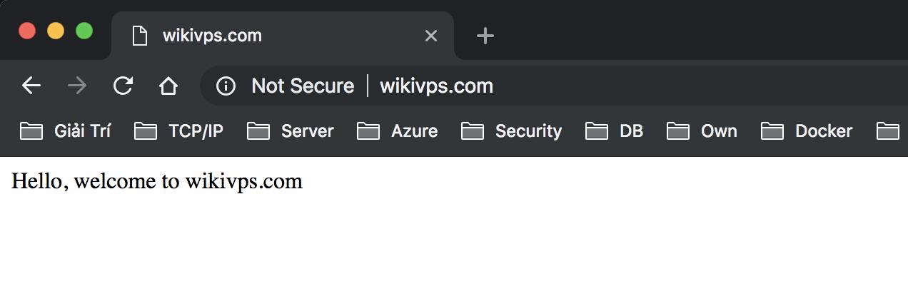 wikivps- truy cập trang web mới tạo