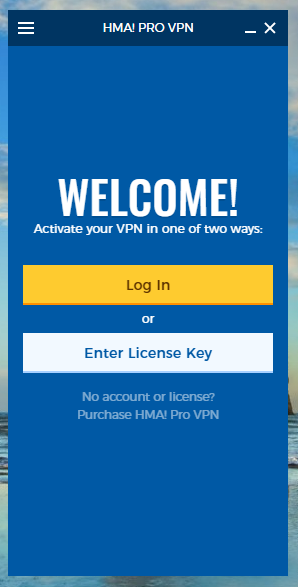 wikivps-hma khởi động phần mềm