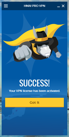 wikivps-hma login thành công