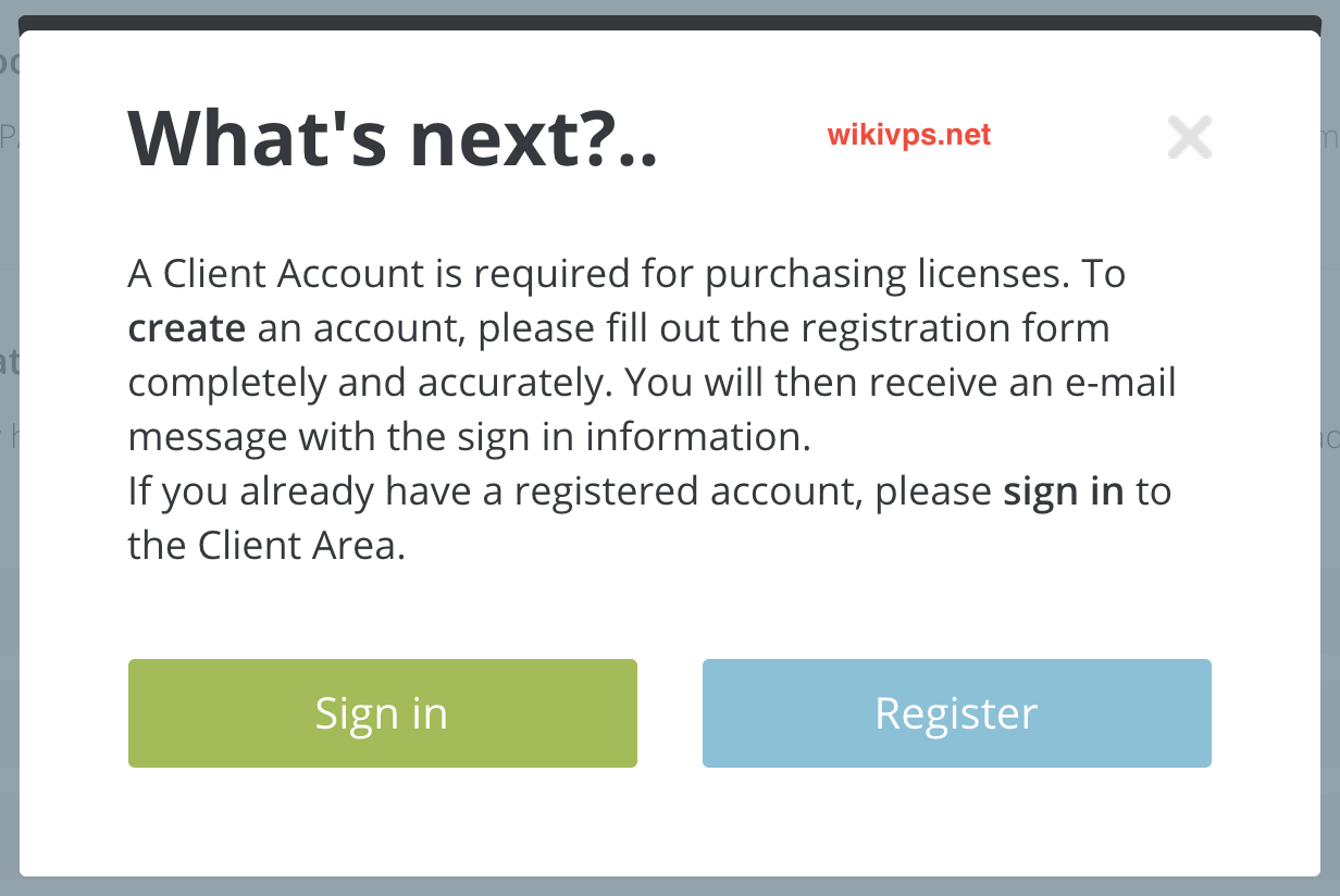 wikivps-registering account