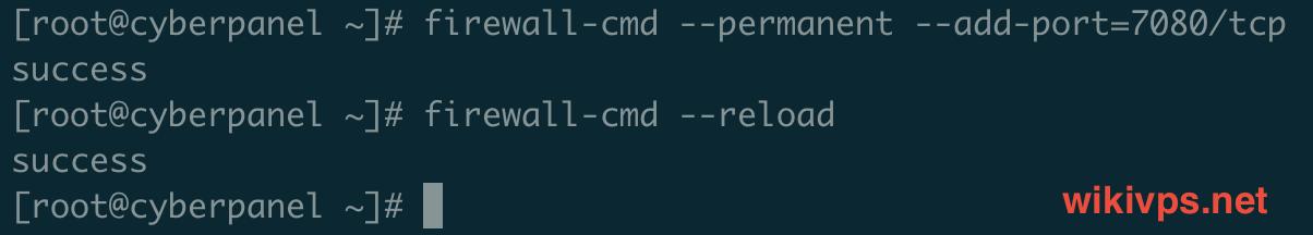 lệnh mở port openlitespeed