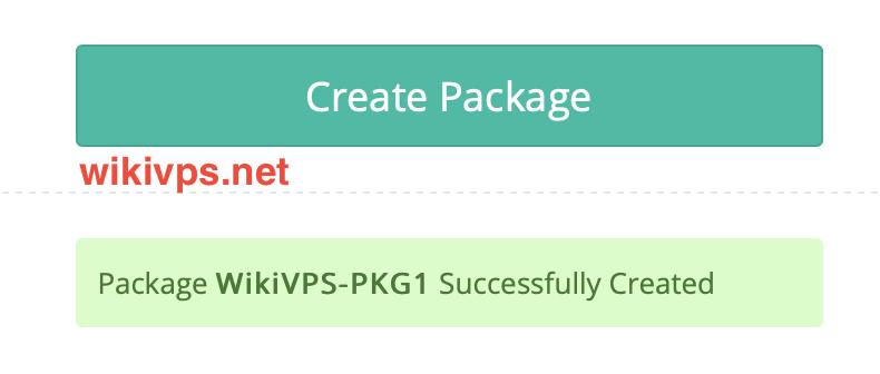 tạo package thành công